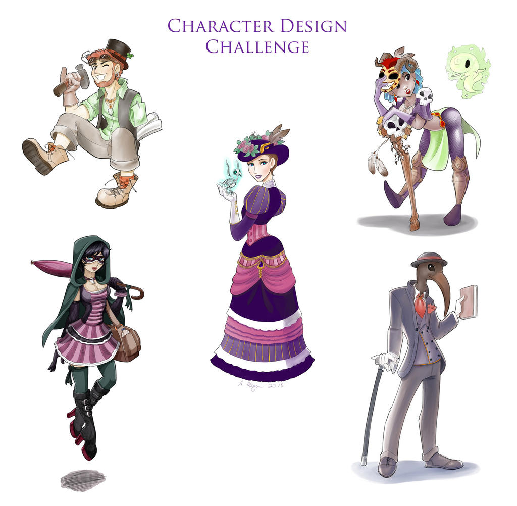 Character Design Challenge List : Character design challenge january by kitsune on