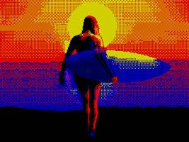 Blue Surf (ZX pixel art)