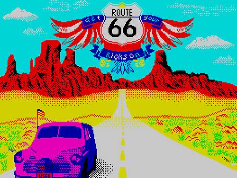 (Get Your Kicks on) Route 66 [ZX pixel art]