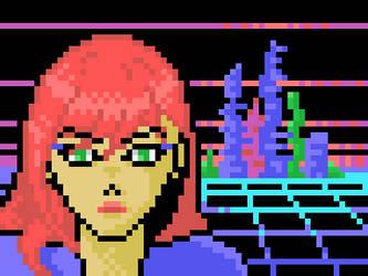 W-Chan (MSX Screen 3 pixel art)