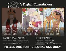 Digital Commissions [OPEN] by SawakoPhoenny