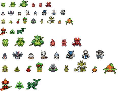 Nutheon Pokemon Over World Sprites By Druid103 On Deviantart