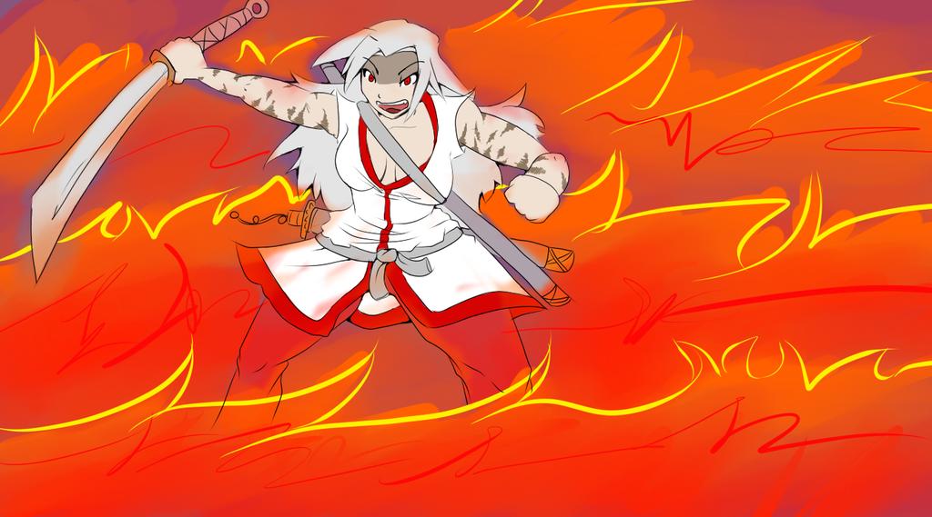 Kuniko rage by Icyshadowlord
