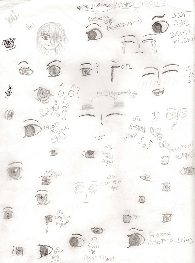 Anime boy eyees lilz tattoo