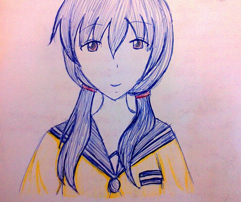 Shinozaki--Ayumi (using pen to draw...fanart) by Shinozaki--Ayumi