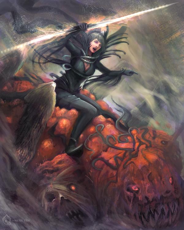 Pumpkin rider by LorennTyr