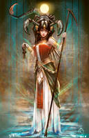 Serket the goddess scorpion by LorennTyr