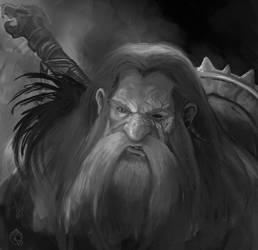 Dwarf skecth by LorennTyr
