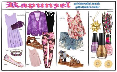 Disney Fashion 2015::: Rapunzel by Gothicthundra