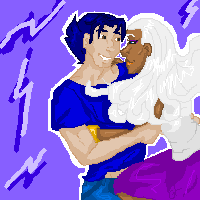 Lets Fly Logan x Ororo by Gothicthundra