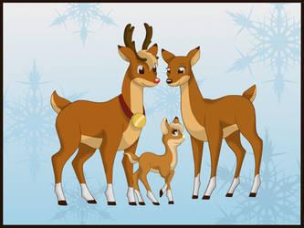 Rudolph, Zoey, Thunder by miesmauz