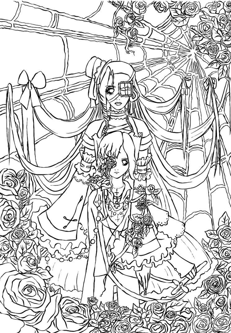 roseweb LolitaVS Shota lineart