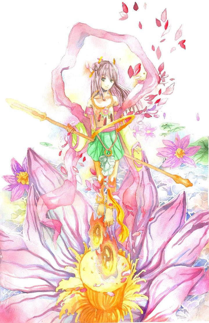 Nezha, the child of lotus by sarriathmoonghost