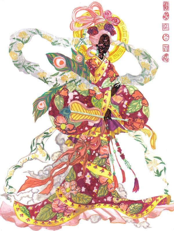 Hanfu dress, decorative Quju by sarriathmoonghost