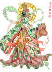 Hanfu dress, decorative Zaju