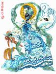 Hanfu dress, breast-high ruqun