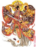 Hanfu dress, butterfly beizi by sarriathmoonghost