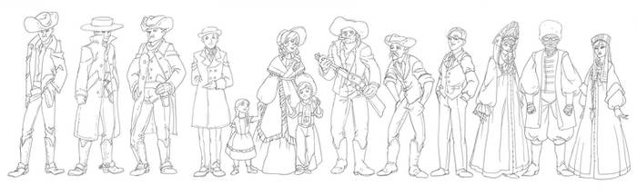 Western characters lineup