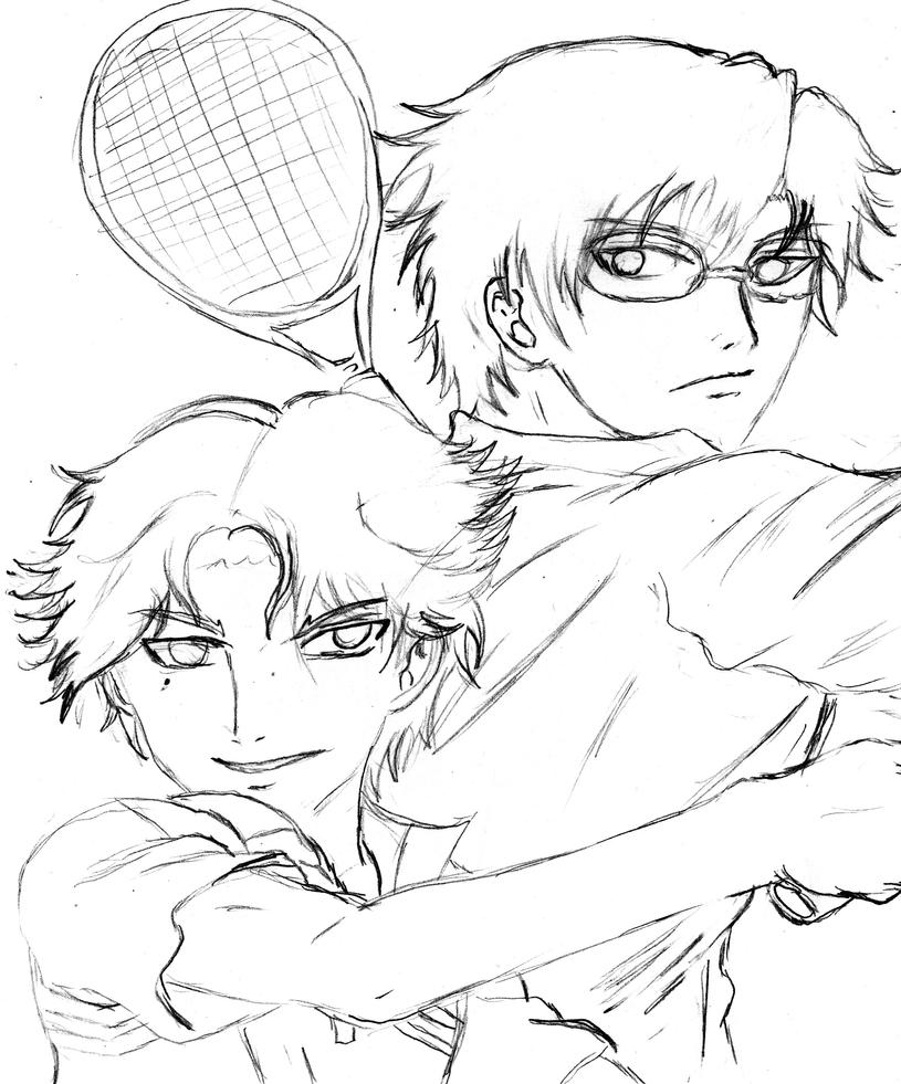 Atobe and Tezuka by TheBlastvampire