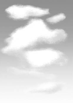 Manga Studio Brush Practice: Sky screentones