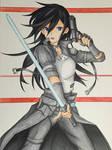 Drawing Kirito from Sword Art Online GGO