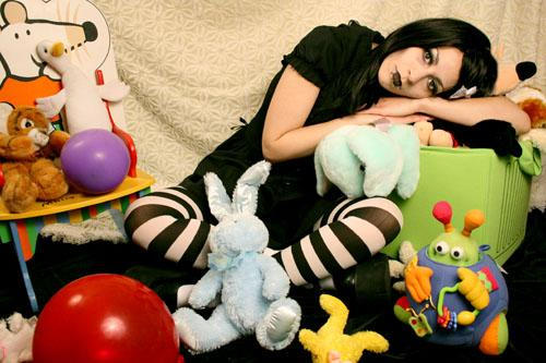 with my toys