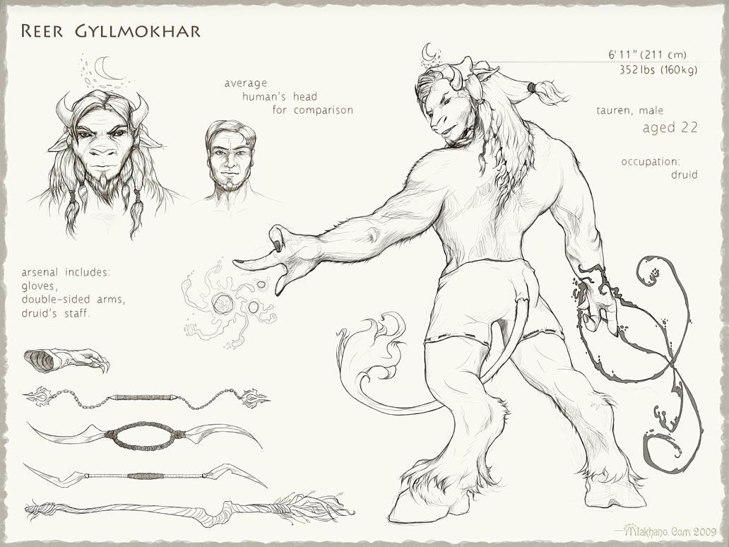 Reer Gyllmokhar (character concept-art). by Miakhano