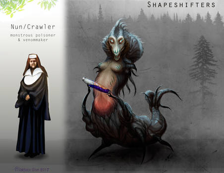 Shapeshifters: nun (crawler).