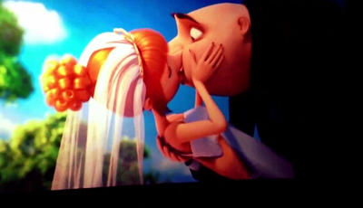 Gru And Lucy Kiss!! by NocturnalRavers