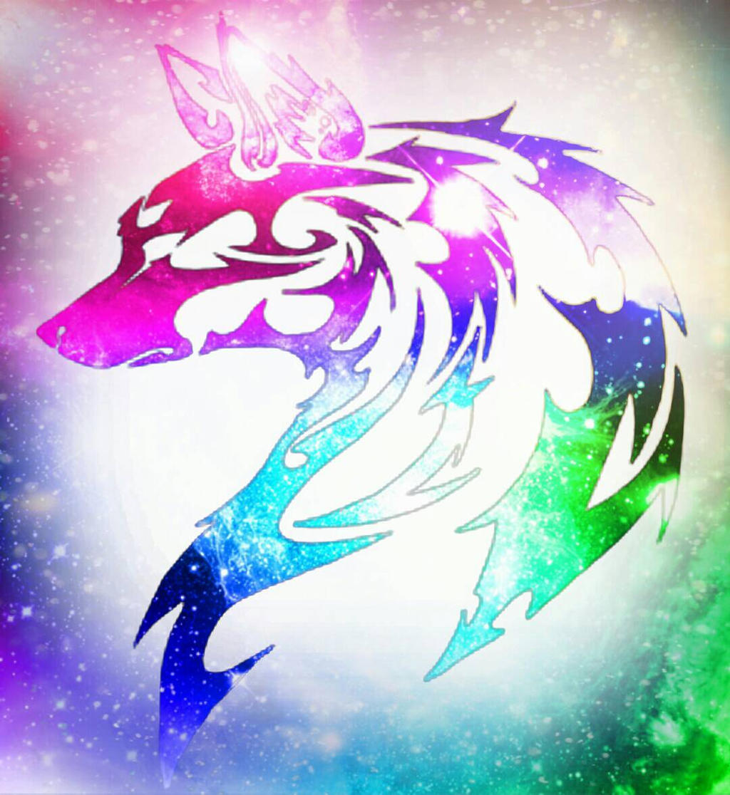 Tribal Wolf Wallpaper: Rainbow Tribal Wolf By NocturnalRavers On DeviantArt