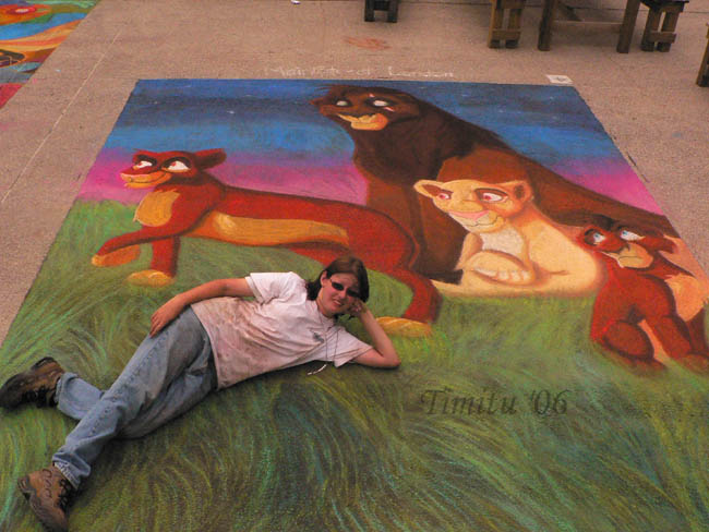 Street Painting The Lion King