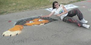 First 3D Chalk Painting