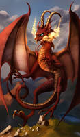 In the Skies, Red Dragon {Contest Entry}