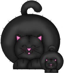 Chunky Momma cat and Kitten
