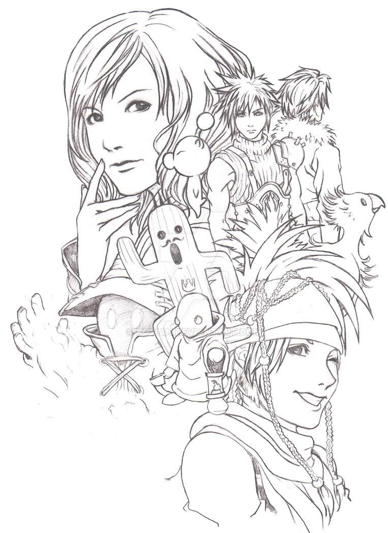 Großzügig Final Fantasy Malvorlagen Fotos - Malvorlagen Von Tieren ...
