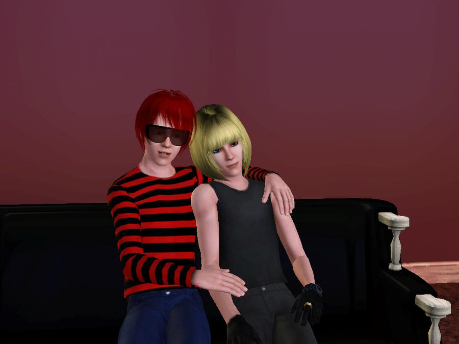 MAtt and Mello Sims 3 by PigeonMaestro