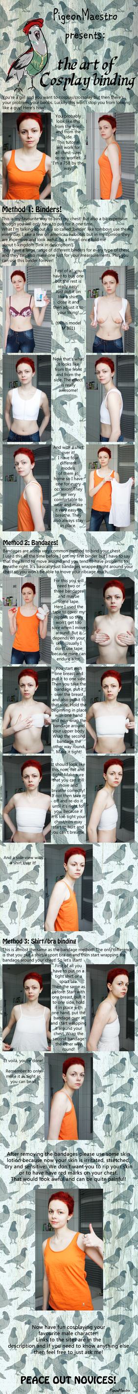 Cosplay Binding: How to bind your chest by PigeonMaestro