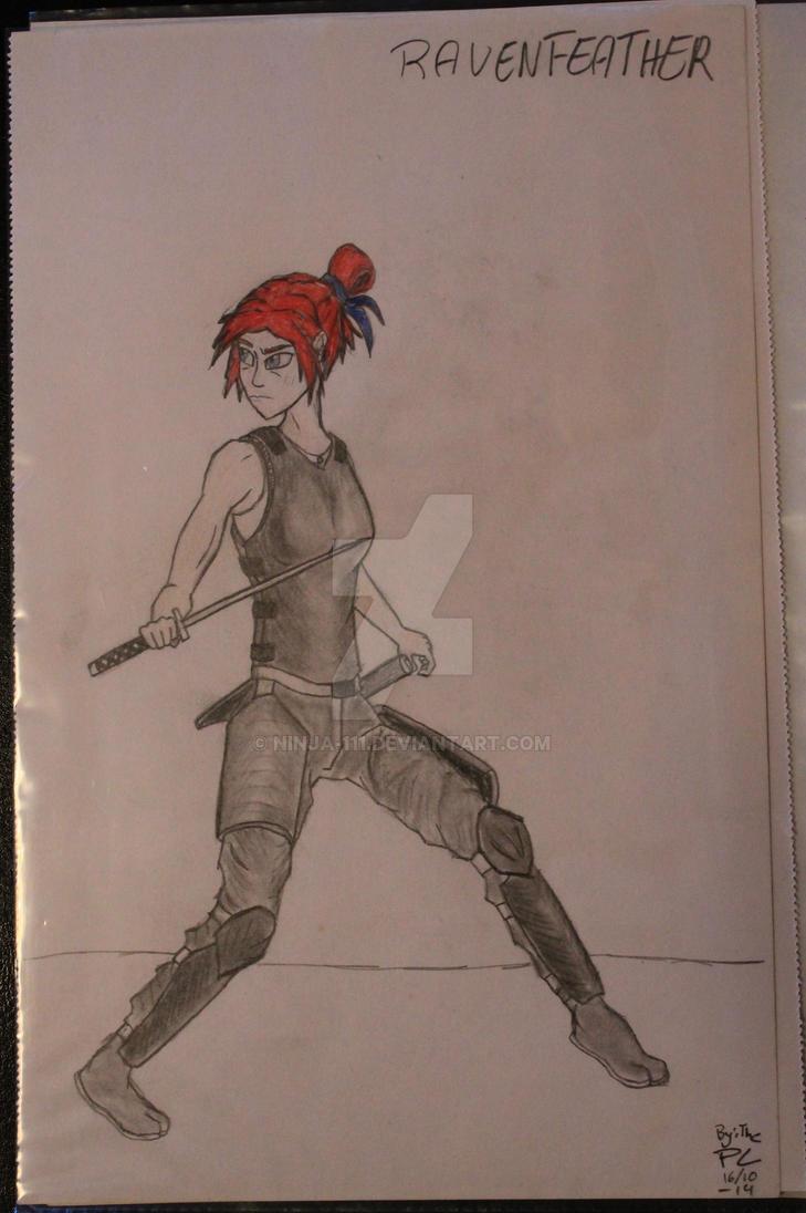 Ravenfeather - Roisin sensing danger by ninja-111