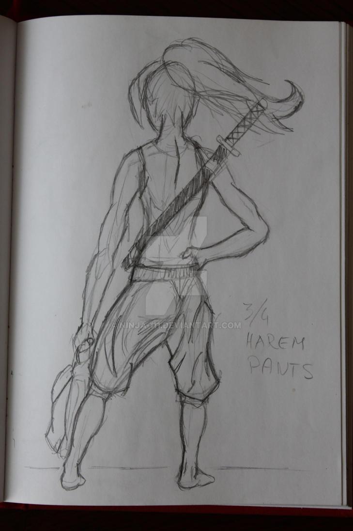 Harem Pants sketch by ninja-111