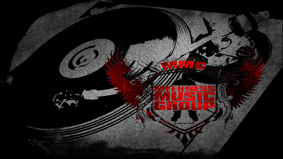 Grunge MMG logo with turntable by NcriptioN