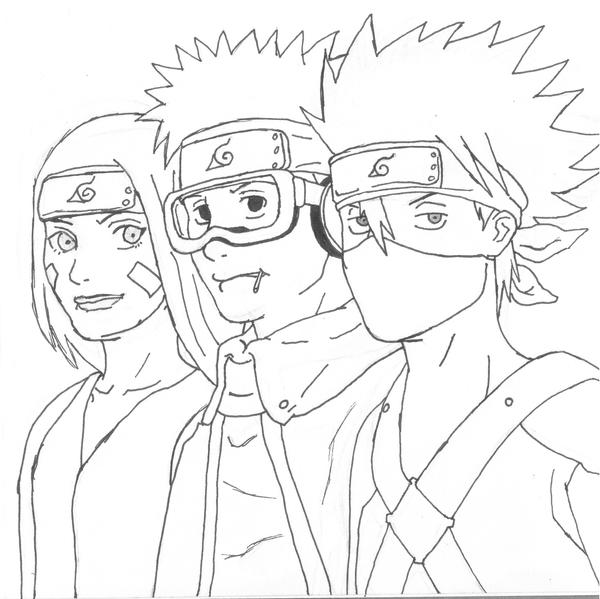 Kakashi Obito and Rin by Naruto179 on DeviantArt