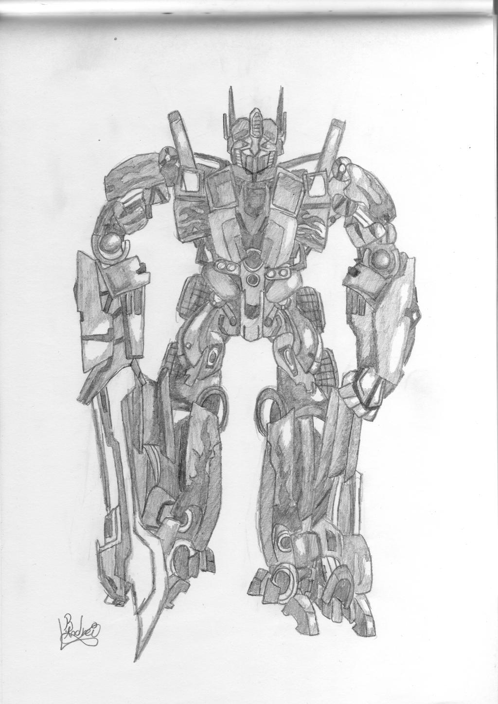 Transformers autobots optimus prime by kkriptor on deviantart for Transformers sentinel prime coloring pages
