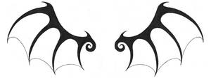 Wing Tattoo Design by InuYoukaiNM