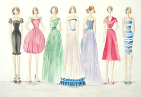1950s fashion design by eemily