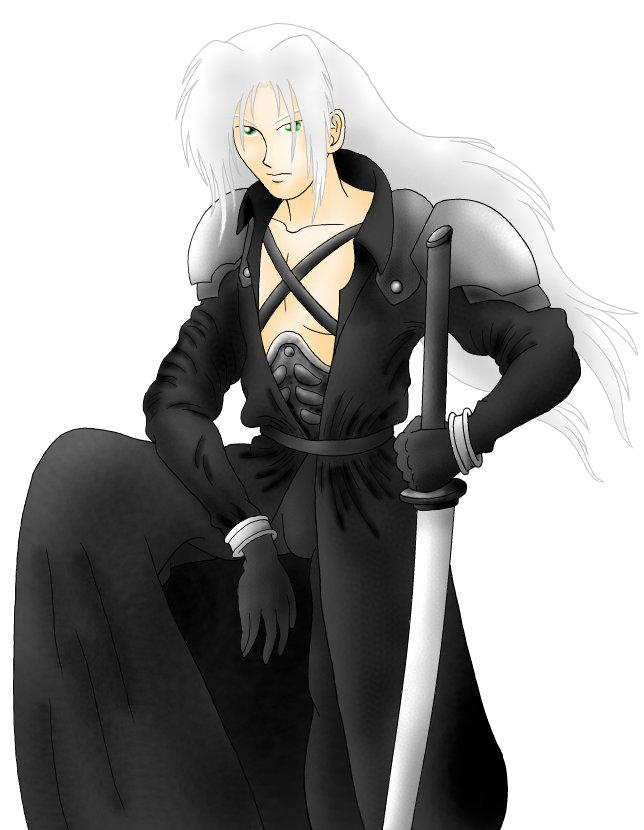 Death cosplaying Sephiroth by garney