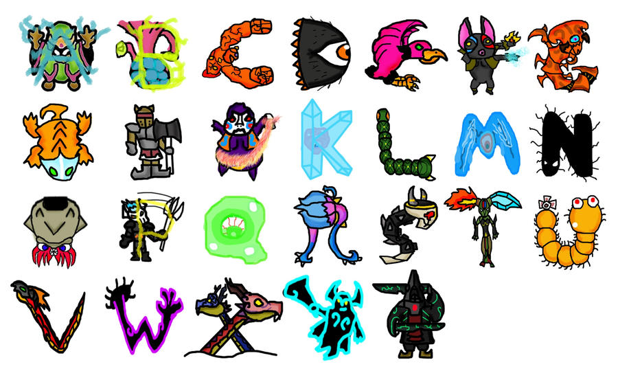 Zelda Boss Alphabet by hyrulen45 on DeviantArt