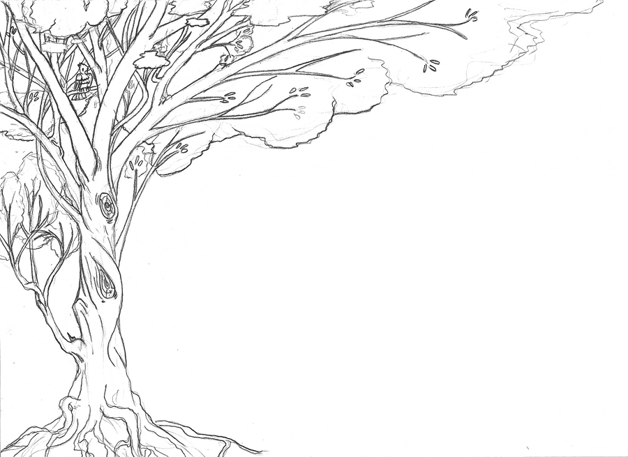 Line Drawing Backgrounds : Tree lineart for background by tzigany on deviantart