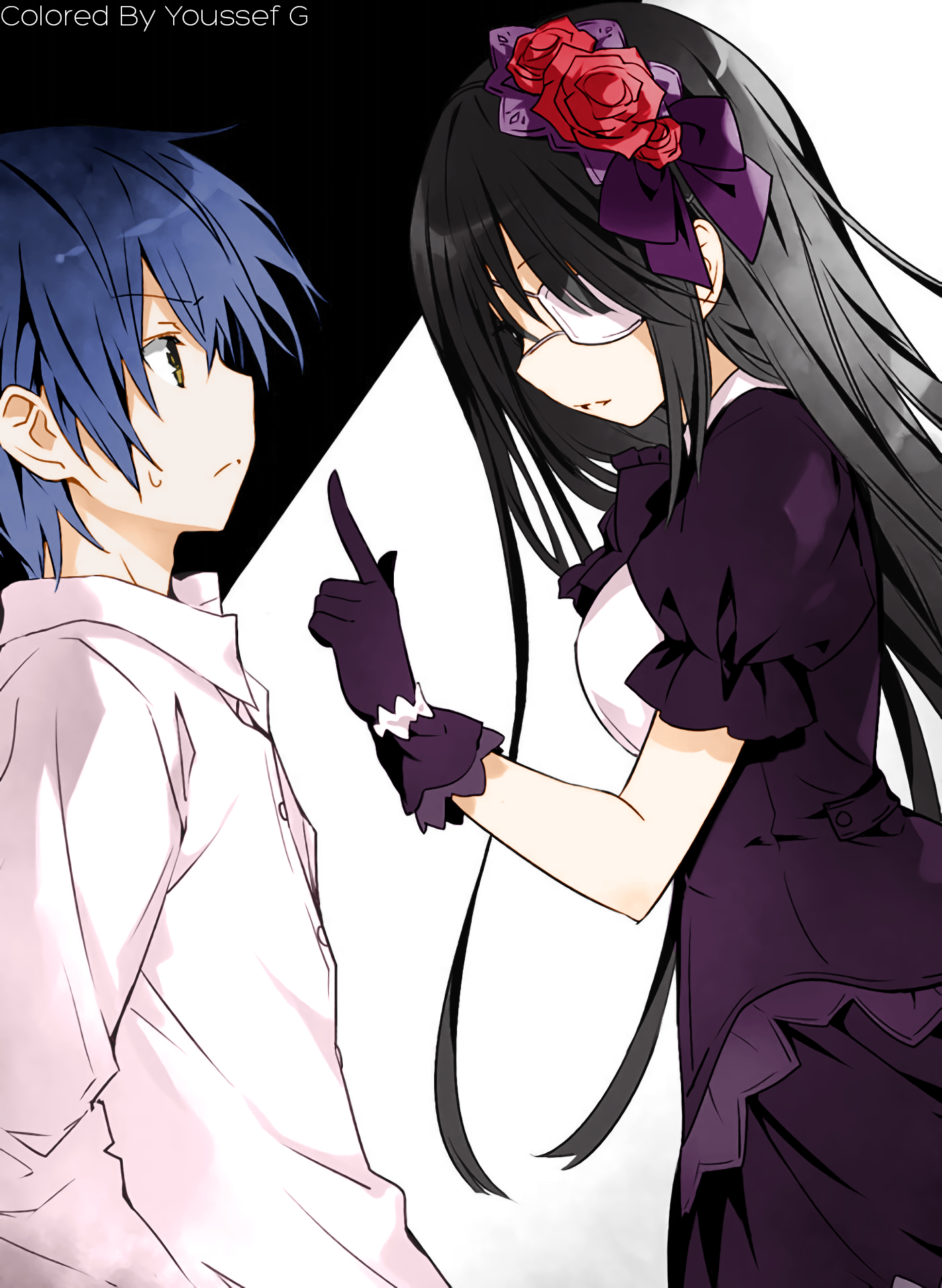 Itsuka Shido And Tokisaki Kurumi By Mundoanimere On Deviantart At myanimelist, you can find out about their voice actors, animeography, pictures and much more! itsuka shido and tokisaki kurumi by