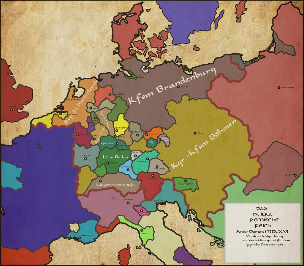Bohemia and Brandenburg 1616 by Saluslibertatis