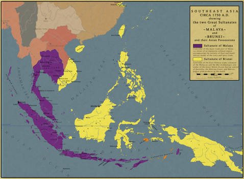 Southeast Asia in 1750